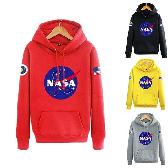 Fashion NASA Mars Rescue Matt Damon NASA Logo Astronaut Spaceman Coat Long sleeve hoodies men Sweatshirt Hoodies Mens Hooded Plu