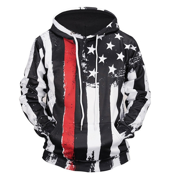 [Jamickiki] Autumn Winter Men's Hooded Pullovers Fashion 3D Printed Sweatshirts Couple Hoodies