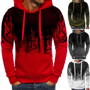 Men's Fashion Camouflage Sweatshirts Long Sleeved Hoodies Casual Sports Hooded Coat