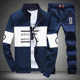 Men Sweatshirt Pants Set Outdoor Sport Joggers Jogging Tracksuit Tenis Baseball Golf Polo Suit Autumn Winter
