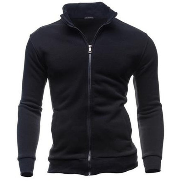 Men's Hoodie Simple Men's Fleece Jacket Hoodie Casual Sports Cardigan Zipper Sweatshirt