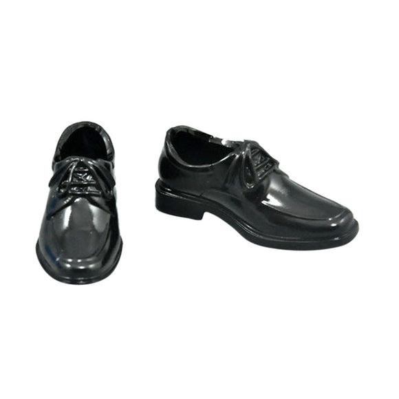 1/6 Scale Black Lace Up Dress Shoes For 12 inch Male Action Figures Body