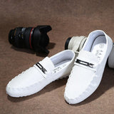 Korean Breathable Men Casual Shoes Fashion Leather Doug Shoes Men's Driving Shoes