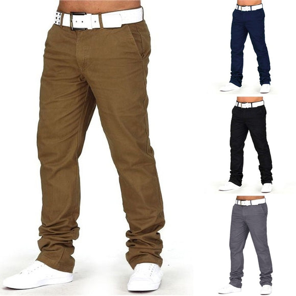 100% Cotton Men's Herren Regular Fit Jeans Pants Casual Business Joggers Slim Fit Multi Pockets Sweatpants Trousers