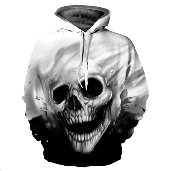Hot Sale 3D Skull Hoodies Men/Women Sweatshirts Winter Autumn Oversized Hoody Loose Outwear Pullovers