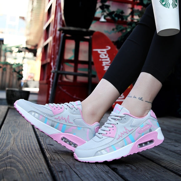 2018 Spring and Summer Fashion Ladies Outdoor Comfortable Air Cushion Running Shoes Casual Sports Shoes