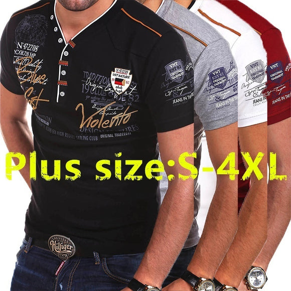 Men's Fashion Personality Cultivating Short-sleeved POLO Shirt S-3XL
