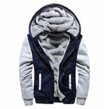 Men Fashion Jacket Winter Thicken Jacket Sweatshirts Coat Zipper Hoodie Winter Fleece Unisex