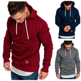 2018 New Men's Pure Color Outdoor Sport Hoodies & Sweatshirts , Sweater Autumn and Winter
