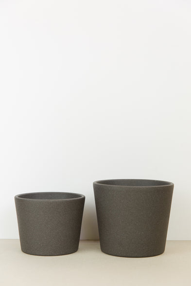 Dark Grey Plant Pot