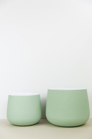 Pale Green Textured Plant Pot
