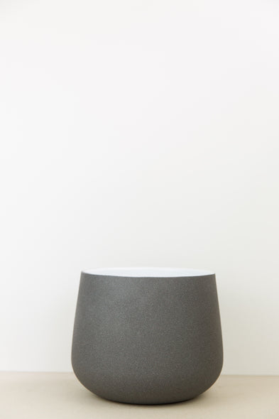 Grey Textured Plant Pot