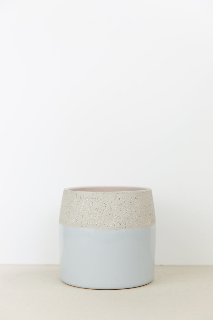 Speckled Colour Dip Plant Pot
