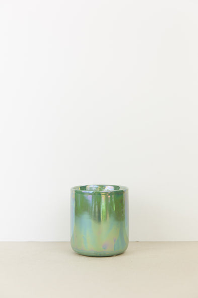Iridescent Green Plant Pot