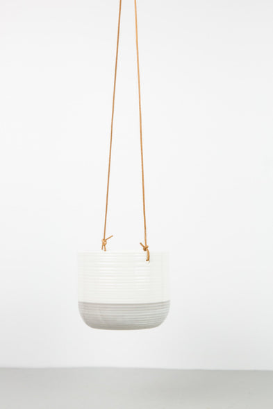 Hanging Ceramic Pot - Grey