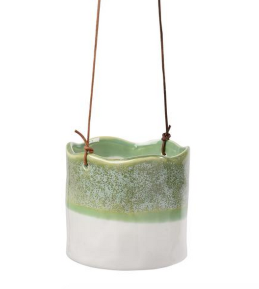 Hanging Ceramic Pot - Green