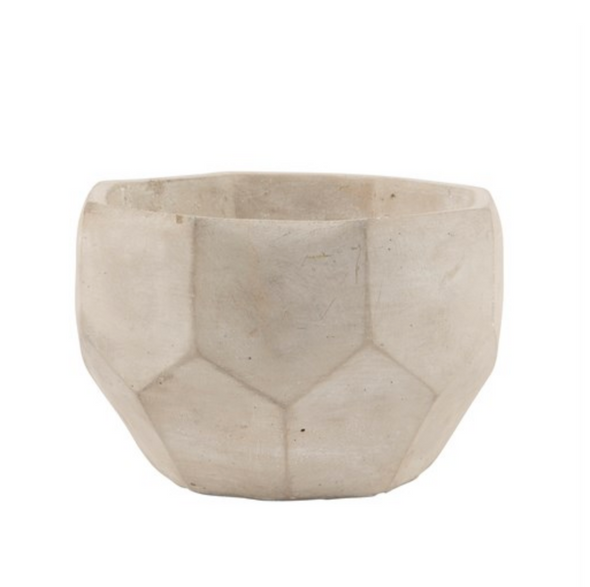 natural concrete geometric plant pot small