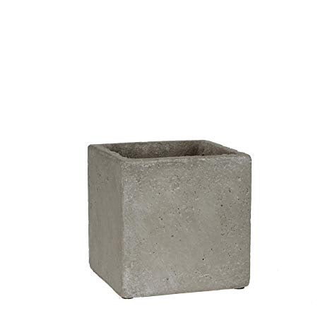Textured Concrete Cube Plant Pot