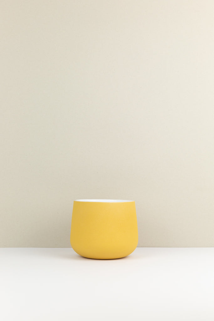 Ochre Textured Plant Pot