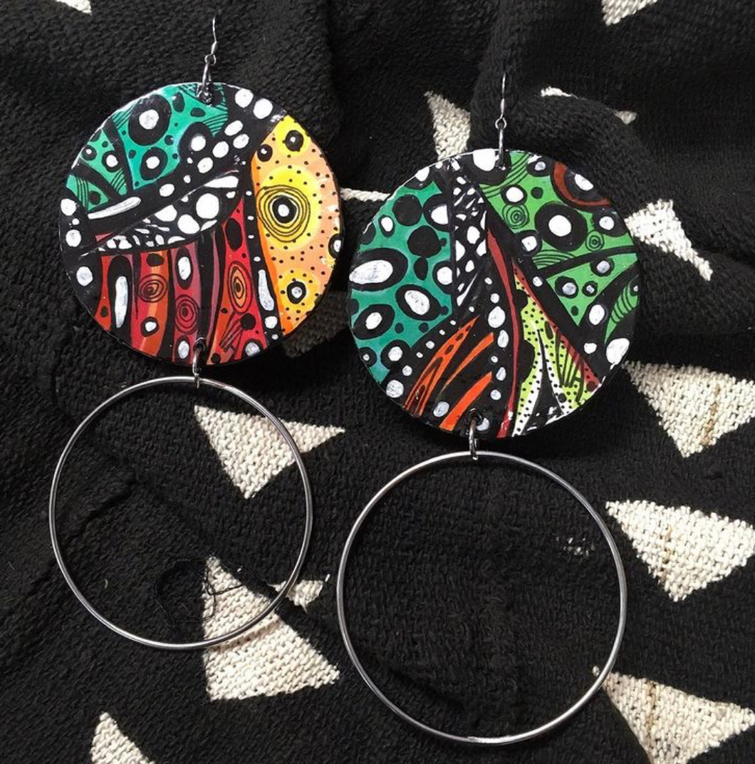 Via Wearable Art Earrings Hoopin It Up