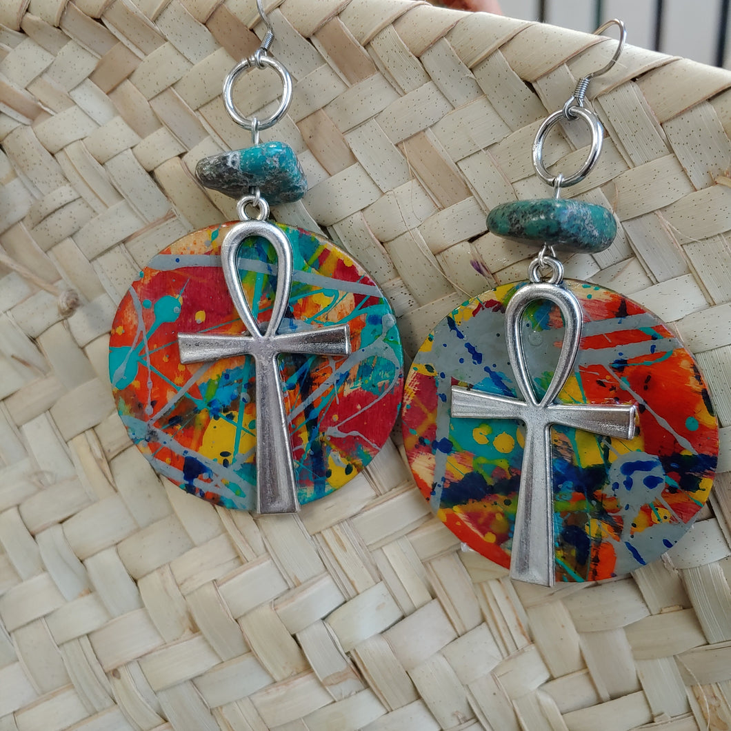 Cookies Ankh Earrings