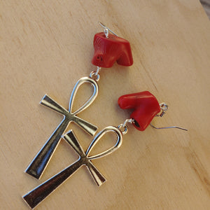 Stainless Coral Earrings