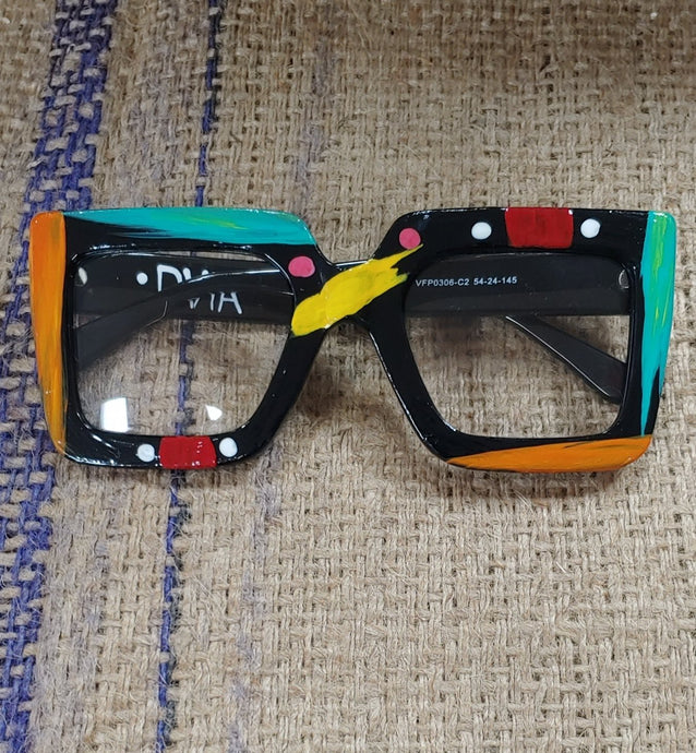 Handpainted Fashion Glasses