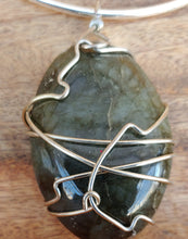Load image into Gallery viewer, Labradorite Wrap Necklace