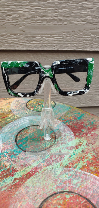Green Fashion Glasses