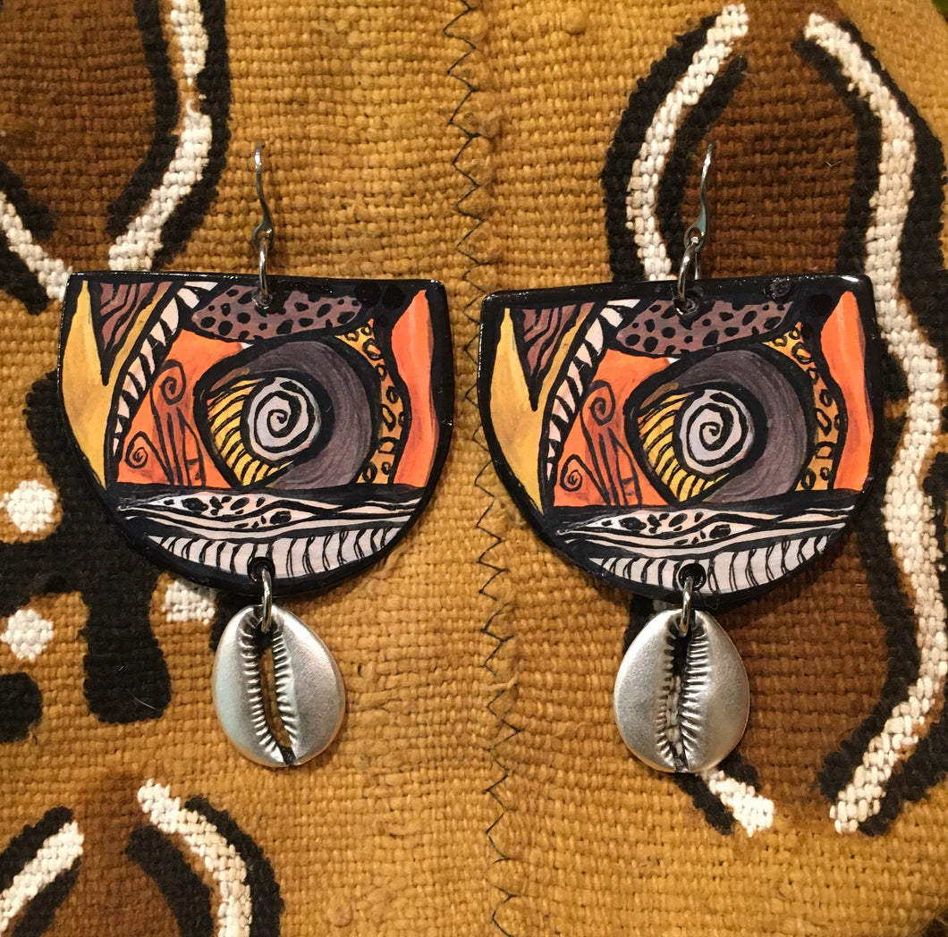 Via Wearable Art Earrings Cultural Hues