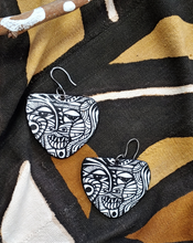 Load image into Gallery viewer, Earrings Via Wearable Art Mask B/W Earrings