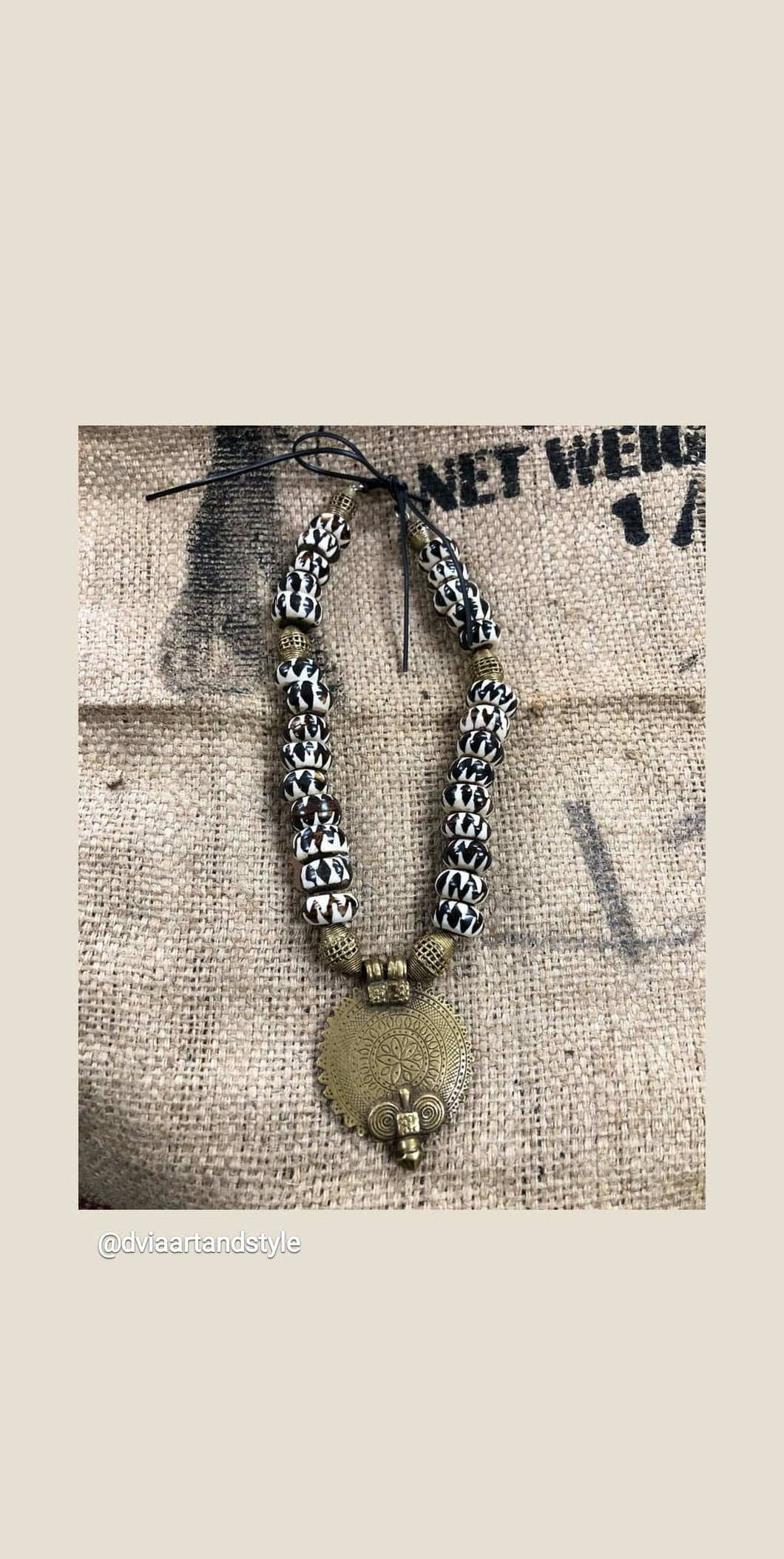 Batik Art Necklace