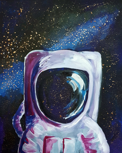 Virtual Paint and Sip - Astronaut - 2.30pm Sunday 25 October 2020