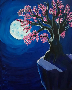 Virtual Paint and Sip - Moonlit Tree - 2.30pm Sunday 11 October 2020