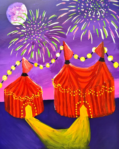Virtual Paint and Sip - Circus - 6.30pm Saturday 24 October 2020