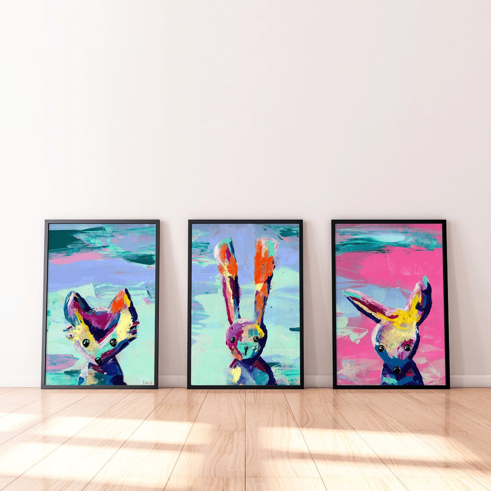 'Animal Games' | Fine Art Giclée Print Set - Art by Nikki W