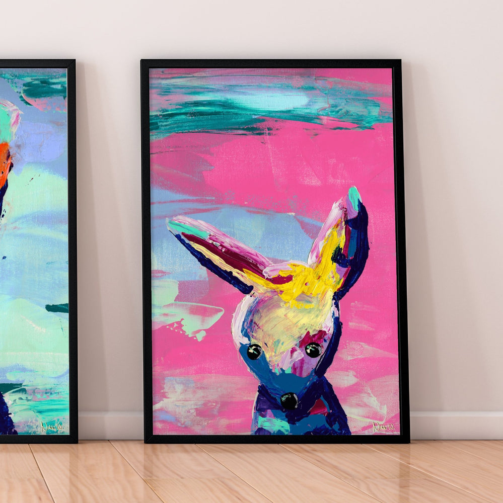 Load image into Gallery viewer, 'Animal Games' | Fine Art Giclée Print Set - Art by Nikki W