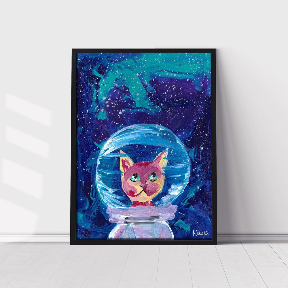 'Major Tom Cat' | Giclée Modern Art Print - Art by Nikki W