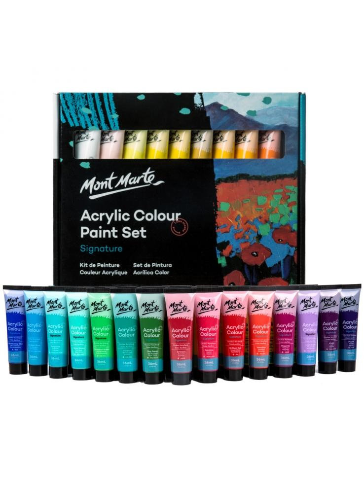 Mont Marte Signature Acrylic Colour Paint Set 36pc x 36ml - Art by Nikki W