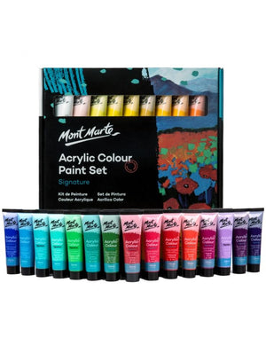 Load image into Gallery viewer, Mont Marte Signature Acrylic Colour Paint Set 36pc x 36ml - Art by Nikki W