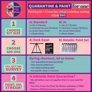 Load image into Gallery viewer, Quarantine & Paint Kit - For One - Art by Nikki W
