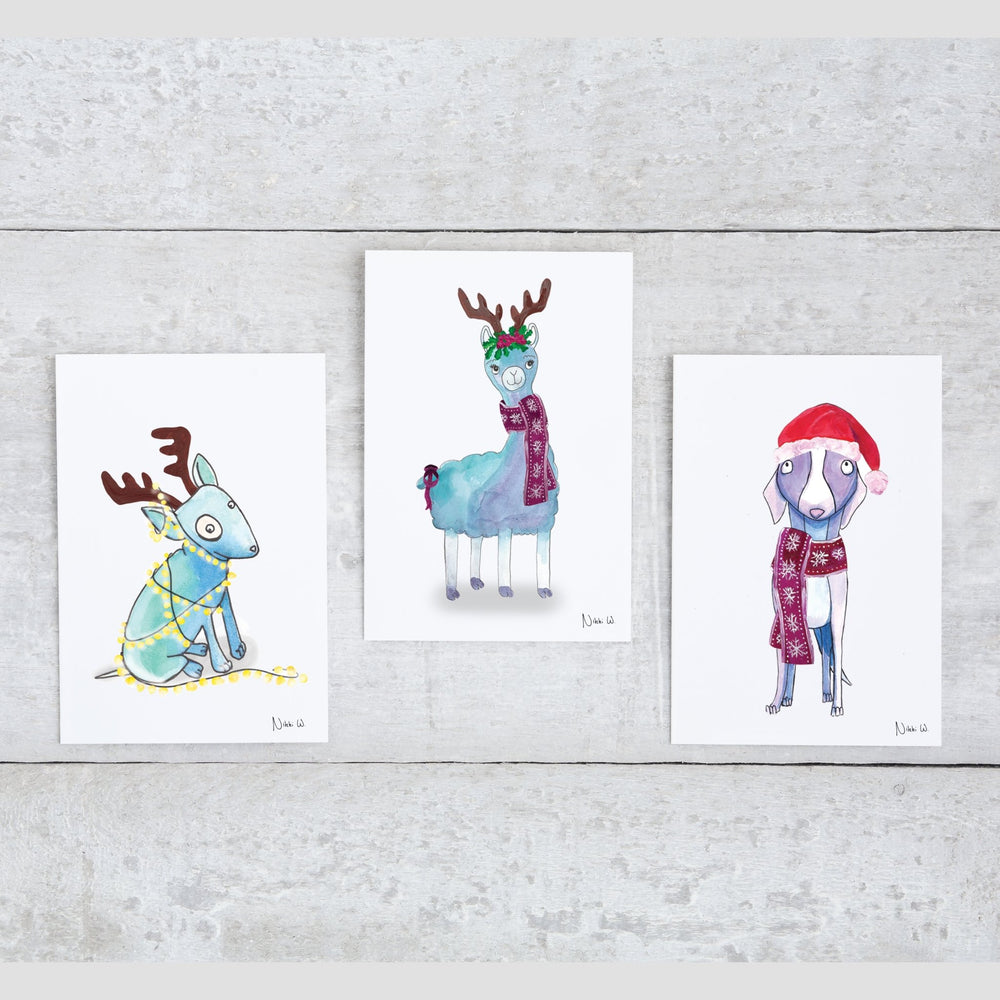 Set of 20 Christmas Cards - Art by Nikki W
