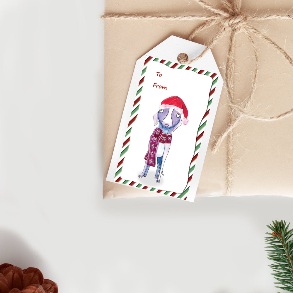 Set of 50 Christmas Gift Labels - Art by Nikki W