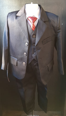 Gorgeous Collections 5 piece Suit Black