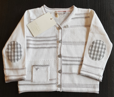 Catimini White Stripes Cardigan
