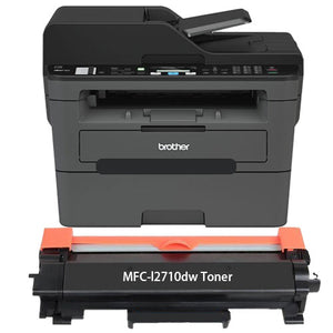 Brother MFC-L2710DW Printer Toner Cartridge, Black, Compatible, New
