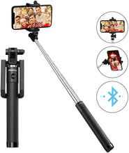 Load image into Gallery viewer, Selfie Stick, Lightweight Extendable 31.9 Inch Bluetooth Selfie Stick Monopod with Wireless Remote