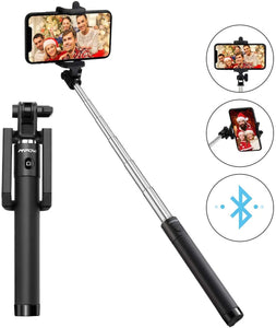 Selfie Stick, Lightweight Extendable 31.9 Inch Bluetooth Selfie Stick Monopod with Wireless Remote