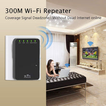Load image into Gallery viewer, WiFi Extender Blast, Wireless Internet Booster for Home 300Mbps Long Range WiFi Repeater WLAN Signal Amplifier, 2.4GHz Network Mini WiFi Router for Phone/Computer/Smart TV and More