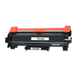 Brother TN660 Toner Cartridge, High Yield, Black, Compatible
